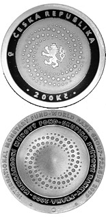 200 korun The InternationalMonetary Fund and World Bank Group Meetings in Prague - 2000 - Series: Silver 200 kronen coins - Czech Republic