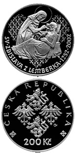 200 korun 750th anniversary of the death of st. Zdislava of Lemberk - 2002 - Series: Silver 200 kronen coins - Czech Republic