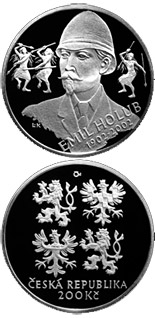200 koruna coin 100th anniversary of the death of traveller Emil Holub | Czech Republic 2002