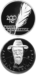 200 koruna coin 150th anniversary of the birth of Jaroslav Vrchlický | Czech Republic 2003