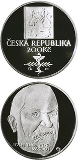200 koruna coin 150th anniversary of the birth of Josef Thomayer | Czech Republic 2003