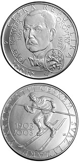 200 koruna coin 100th anniversary of the foundation of the Skiers' Union in the Kingdom of Bohemia | Czech Republic 2003