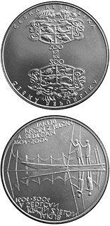 200 koruna coin 400th anniversary of the death of Jakub Krčín of Jelčany (pisciculturist) | Czech Republic 2004