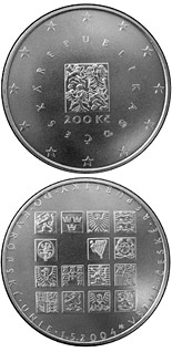200 korun The accession of the Czech Republic to the EU - 2004 - Series: Silver 200 kronen coins - Czech Republic