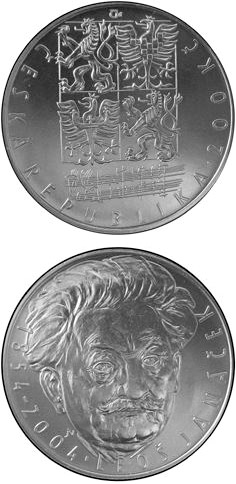 Image of a coin 200 korun | Czech Republic | 150th anniversary of the birth of Leoš Janáček | 2004
