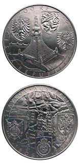 200 korun 200th anniversary of the battle of Austerlitz - 2005 - Series: Silver 200 kronen coins - Czech Republic