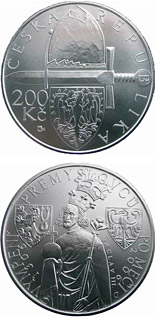 200 koruna coin 700th anniversary of the male line of the Premyslid dynasty ends with the death of Wenceslas III | Czech Republic 2006