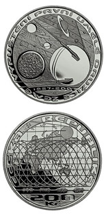 200 koruna coin 50th anniversary of launch of the first Earth satellite | Czech Republic 2007
