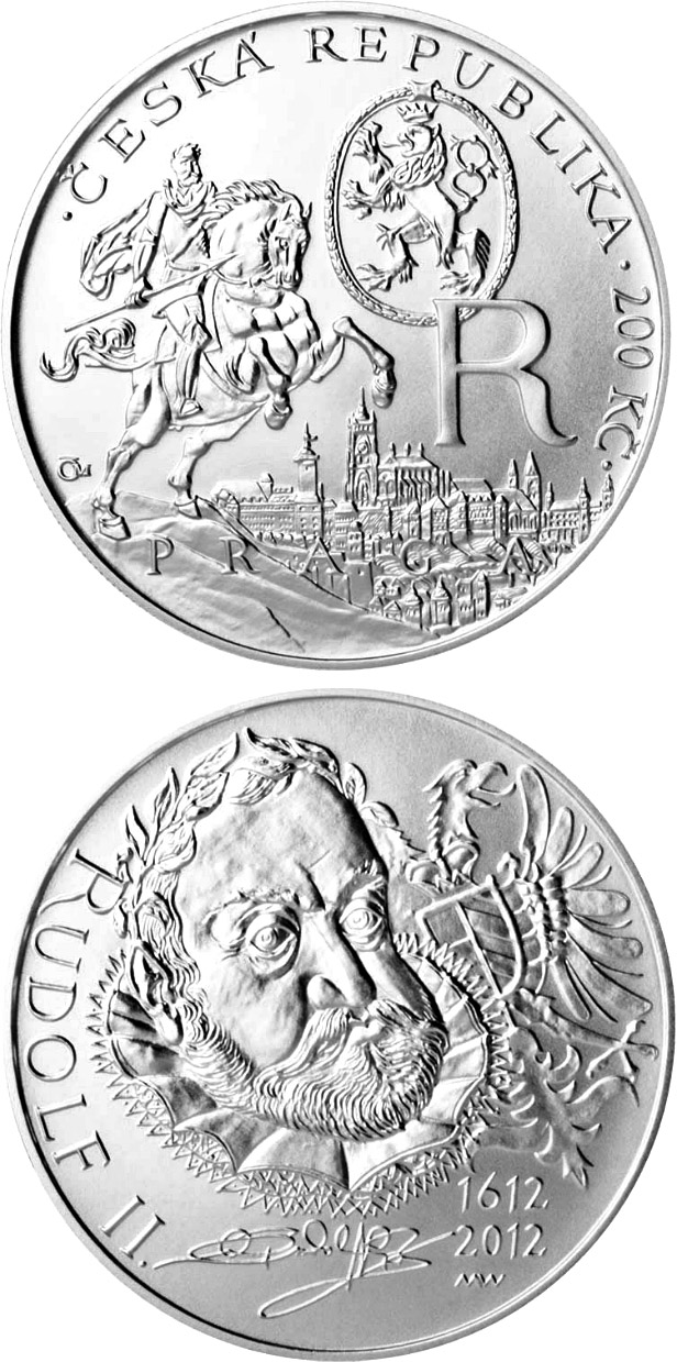 Image of a coin 200 korun | Czech Republic | Death of King Rudolf II | 2012