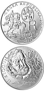 200 koruna coin Death of King Rudolf II | Czech Republic 2012