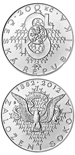 200 korun Foundation of Sokol movement - 2012 - Series: Silver 200 kronen coins - Czech Republic
