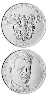 200 korun Foundation of Junák scout movement - 2012 - Series: Silver 200 kronen coins - Czech Republic