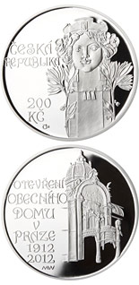 200 korun Opening of Municipal house in Prague - 2012 - Series: Silver 200 kronen coins - Czech Republic