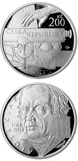 200 korun Birth of philologist and philanthropist Aloys Klar - 2013 - Series: Silver 200 kronen coins - Czech Republic
