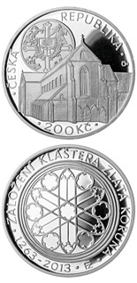200 korun Foundation of Zlatá koruna (Gold Crown) monastery - 2013 - Series: Silver 200 kronen coins - Czech Republic