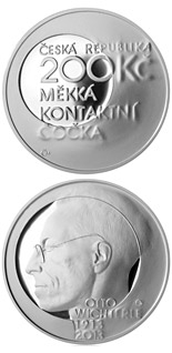 200 koruna coin Birth of inventor and chemist Otto Wichterle | Czech Republic 2013
