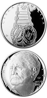 200 korun Birth of writer Bohumil Hrabal - 2014 - Series: Silver 200 kronen coins - Czech Republic