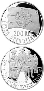 200 korun Foundation of Czechoslovak legions - 2014 - Series: Silver 200 kronen coins - Czech Republic