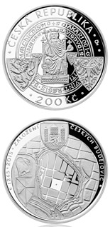 200 koruna coin Foundation of České Budějovice as royal city | Czech Republic 2015