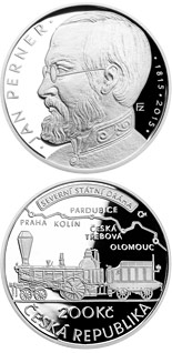 200 korun Birth of engineer Jan Perner - 2015 - Series: Silver 200 kronen coins - Czech Republic