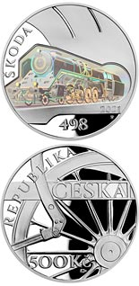 500 koruna coin Škoda 498 Albatros steam locomotive | Czech Republic 2021