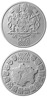 10000 koruna coin 100th Anniversary of the Establishment of Great Prague | Czech Republic 2022