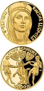 10000 koruna coin 100th Anniversary of the Death of Princess Ludmila | Czech Republic 2021