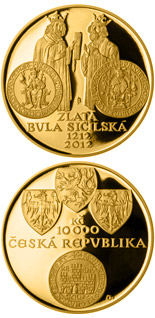 10000 koruna coin Golden Bull of Sicily | Czech Republic 2012
