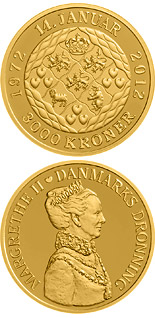 3000 krone coin Queen Margrethe's 40th jubilee | Denmark 2012