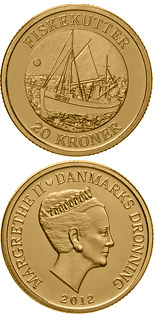 10 kroner Fishing Vessel - 2012 - Series: Ship coins - Denmark