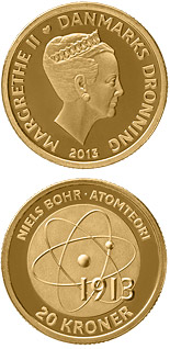 20 krone coin Niels Bohr - Atomic model | Denmark 2013