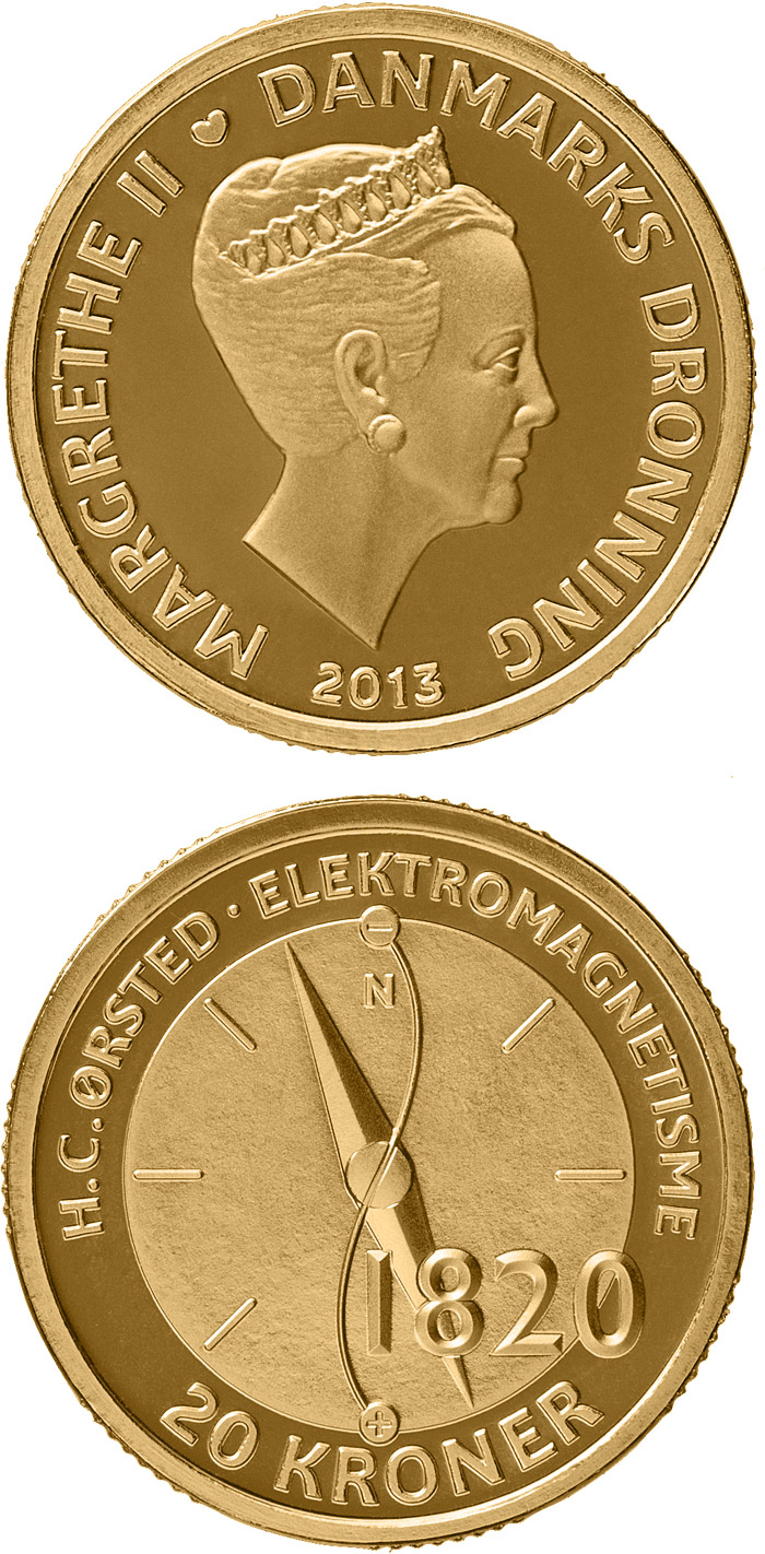 20 kroner H. C. Ørsted - Electromagnetism - 2013 - Series: The Scientist Series - Denmark