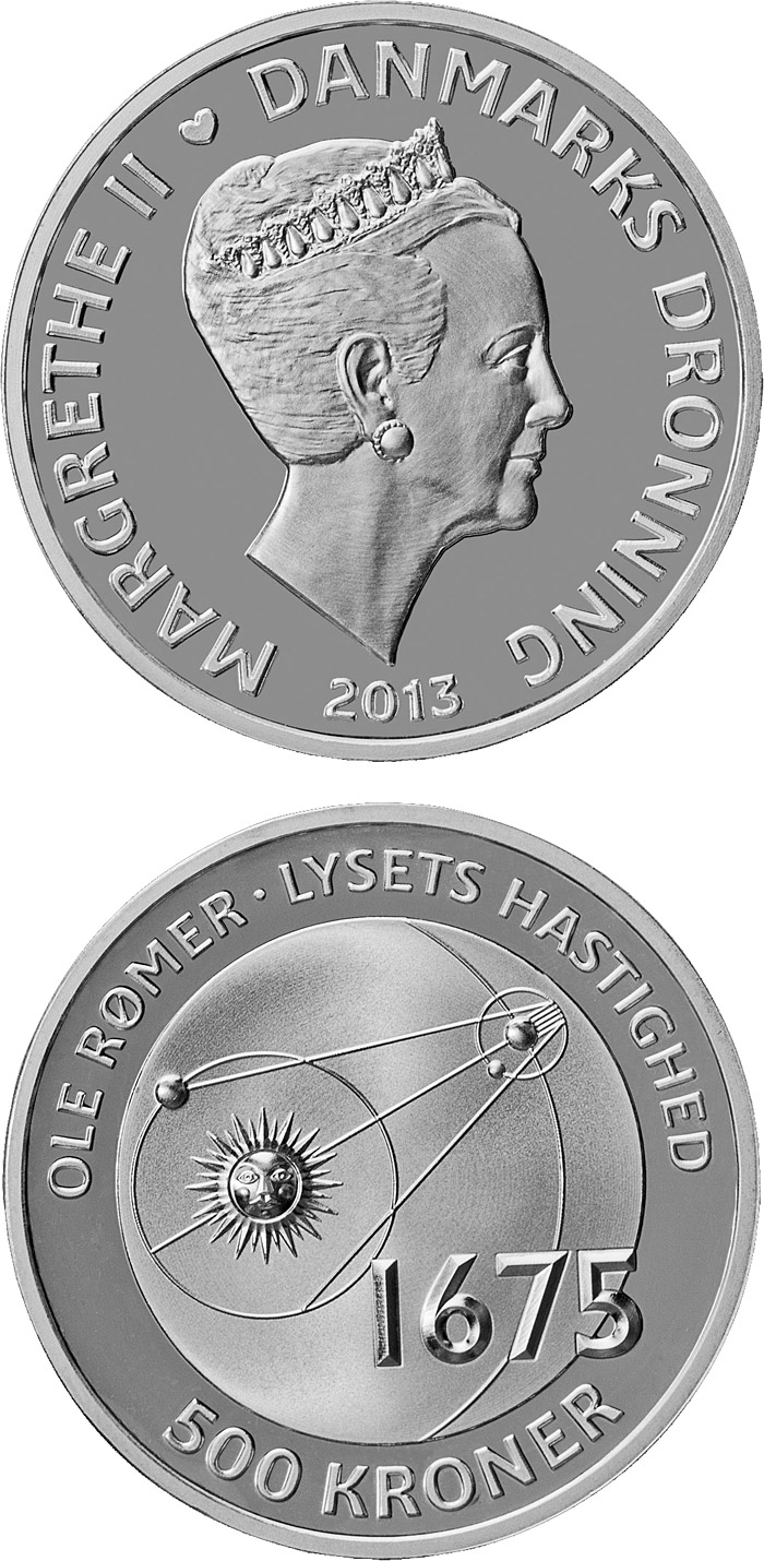 500 kroner Ole Rømer - The speed of light - 2013 - Series: The Scientist Series - Denmark