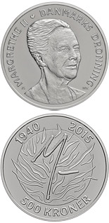 500 krone coin Queen Margrethe II´s 75th birthday | Denmark 2015