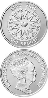 500 krone coin HM Queen Margrethe II´s 80th birthday | Denmark 2020