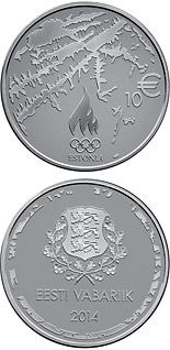 10 euro coin XXII Olympic Winter Games in Sochi | Estonia 2014