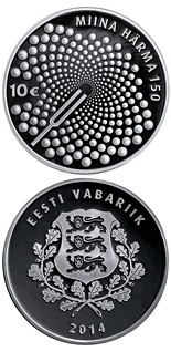10 euro coin The Work of Miina Härma | Estonia 2014