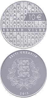 10 euro coin  The Work of Eduard Vilde | Estonia 2015
