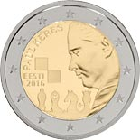 2 euro 100th Anniversary of the Birth of Paul Keres - 2016 - Series: Commemorative 2 euro coins - Estonia