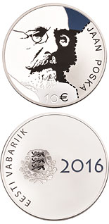 10 euro 150th Anniversary of the Birth of Jaan Posk - 2016 - Series: Collector silver euro coins - Estonia