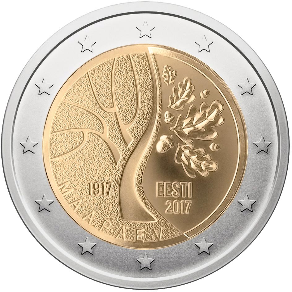 Image of 2 euro coin The events that preceded Estonia's independence | Estonia 2017