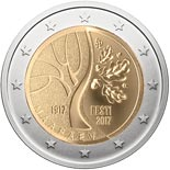 2 euro coin The events that preceded Estonia's independence | Estonia 2017