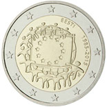 2 euro coin The 30th anniversary of the EU flag | Estonia 2015