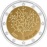 2 euro coin Centenary of the Tartu Peace Treaty | Estonia 2020