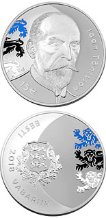 15 euro coin 150th anniversary of the birth of Jaan Tõnisson | Estonia 2018