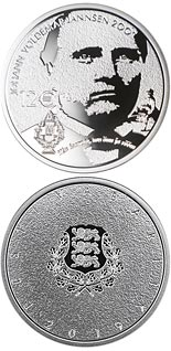 12 euro coin 200th anniversary of the birth of Johann Voldemar Jannsen | Estonia 2019