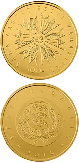 100 euro coin 100th Anniversary of the Republic of Estonia | Estonia 2018