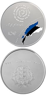 10 euro coin 100th Anniversary of the Republic of Estonia | Estonia 2018