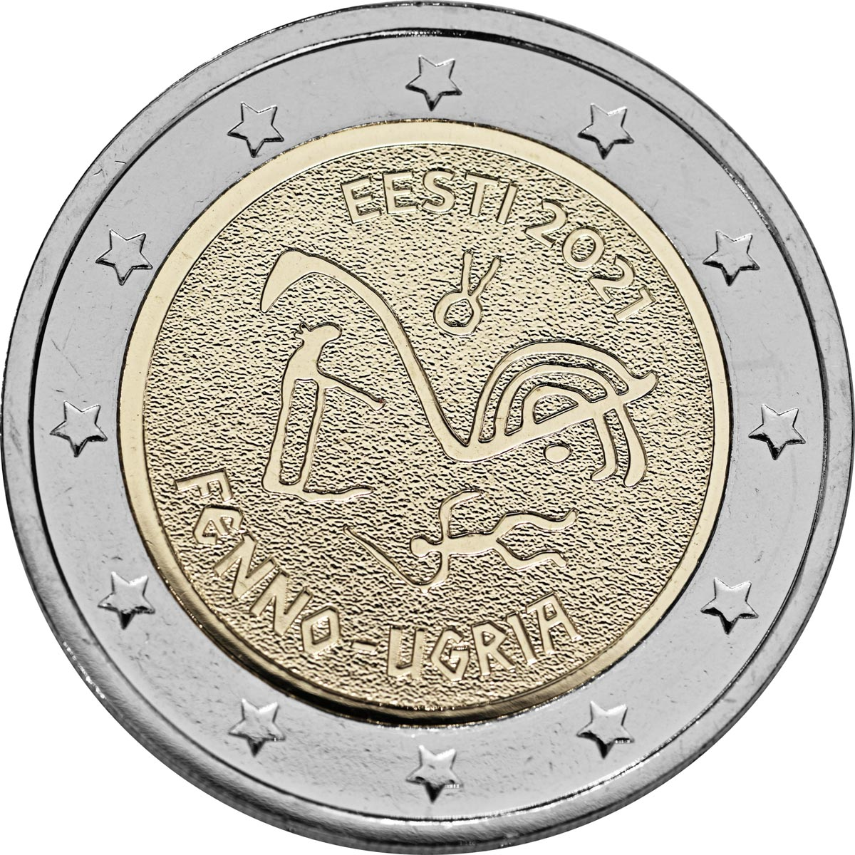 Image of 2 euro coin - The Finno-Ugric Peoples | Estonia 2021
