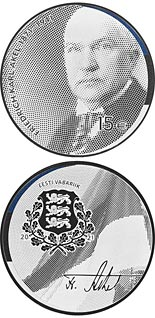 15 euro coin 150th anniversary of the birth of Friedrich Karl Akel | Estonia 2021
